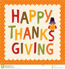 happy thanksgiving day vintage hand drawn vector illustration