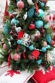 redstmas tree decorations turquoise picture ideas bow