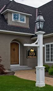 light post with address sign l post with sign love the house too but if i had this l post