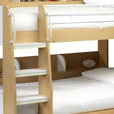 Julian Bowen Domino Bunk Beds In Maple And White Pay Weekly Store - Ladders for bunk beds