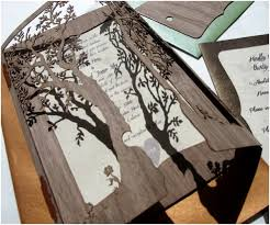 Tree Wedding Invitations Unique Rustic Tree Wedding Invitations Ipunya