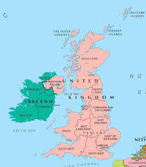 ireland and england map london map