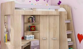 lit armoire bureau lit en hauteur combiné avec bureau armoire et rangement intégré