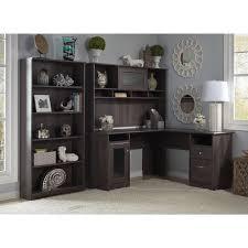 L Shaped Desk With Bookcase Barrel Studio Hillsdale L Shape Desk With Hutch And 5 Shelf