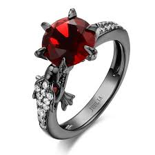black ruby rings images Black tone round cut sterling silver dragon ring jeulia jewelry jpg