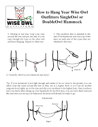 hammock instructions wise owl outfitters