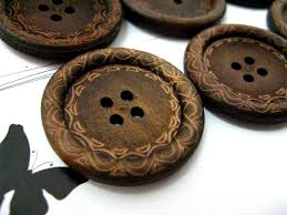 wooden buttons for pillows and curtain accents for the home