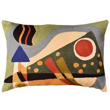 contemporary pillows for sofa awesome lumbar kandinsky throw pillow composition vii green hand of