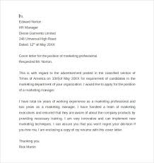 marketing cover letter 7 samples examples format