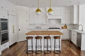 Small Kitchen Faucet White Kitchen With Brass Hicks Pendants Transitional Kitchen