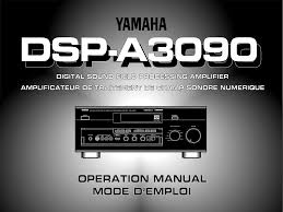 download free pdf for yamaha dsp a3090 amp manual