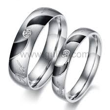 couple rings titanium images Engraved titanium matching couples rings set for two personalized jpg