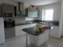 credence cuisine grise charmant cuisine blanche et grise indogate inspirations avec
