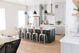 kitchen island with barstools gray kitchen island with restoration hardware remy stools
