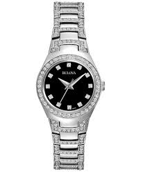 bulova watches ladies bracelet images Bulova women 39 s crystal stainless steel bracelet watch 25mm 96l170 tif