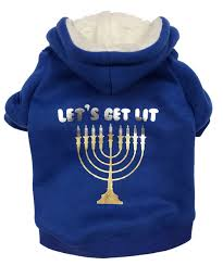 hannukah sweater get lit dog hoodie dog sweater dog