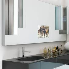 wall mounted mirror contemporary rectangular with integrated
