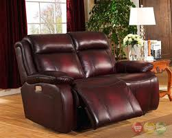 Top Grain Leather Reclining Sofa Leather Recliner Loveseats Terranova Top Grain Leather Reclining