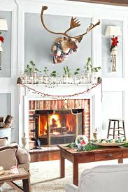 spirit shiny trimmings christmas decorations fireplace hearth