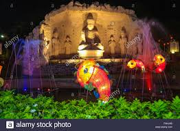 New Year Lighting Decorations by Buddha Statue With Led Light Fish Decorations At Fgs Temple