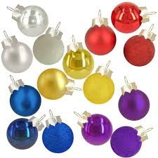 home accents mini glass ornament 15 pack assorted