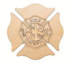 wooden maltese cross fireman maltese cross wood cut out unfinished firefighter