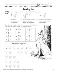 improper fractions to mixed numbers worksheets worksheets