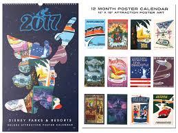 disney desk calendar 2017 popular disney parks and resorts attraction poster calendar returns