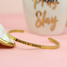christian bracelet saved by grace gold christian bracelet doses of grace