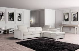 White Leather Sectional Sofa Estro Salotti Vertigo Modern White Leather Sectional Sofa W