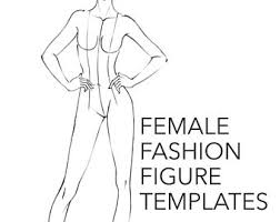 fashion figure template runway finale walk line up