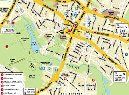 map of st albans st albans map and st albans satellite image