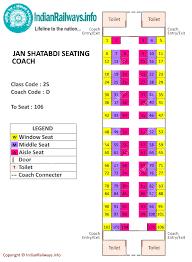 seat map indian railways seat map