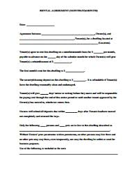month to month rental agreement template download edit u0026 fill