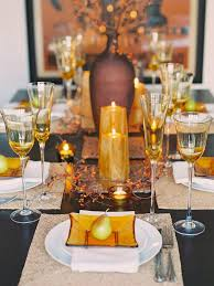 Fall Table Settings Glittering Fall Table Setting And Centerpiece Ideas Hgtv