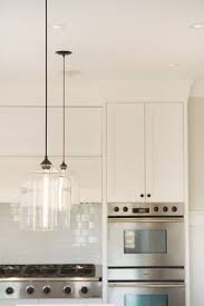 clear glass pendant lights for kitchen island contemporary kitchen lighting spotted in chic canadian kitchen