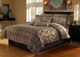 Extra Long King Comforter 7 Piece Leopard Animal Kingdom Bedding Comforter Set