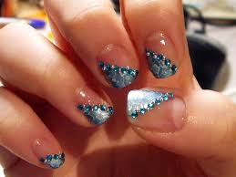 nail art design glitter gold sequins tipped nail art design for