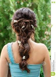hairstyles back view only brunette festive hairstyle back view stock image image of