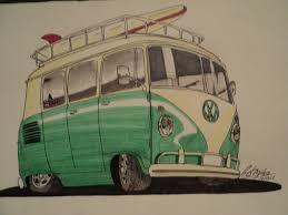 volkswagen van cartoon drawn bus volkswagen pencil and in color drawn bus volkswagen