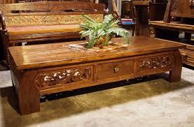 bali style coffee table indonesian bali style reclaimed teak carved coffee table gado