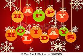 Stock Illustrations Of Happy Holidays Illustration Of Christmas