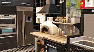 sims 3 modern kitchen sims3 cafe croissant 咖啡與可頌 ruby u0027s home design