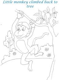monkeys and the cap seller story printable coloring pages for kids