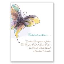 reception card watercolor butterfly reception card s bridal bargains