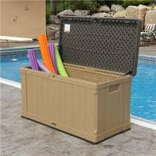 60167 lifetime 116 gallon outdoor storage deck box