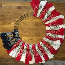 red white and blue bandana flag wreath craft idea flag wreath