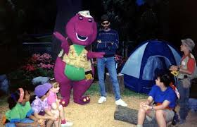 Luci Barney And Friends Wiki by Image Behind The Scene Of A Camping Will We Go Barney U0026 Friends