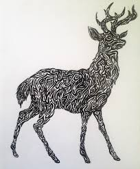 tribal stag design by tandenfee on deviantart