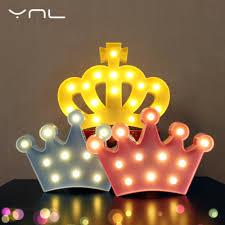 aliexpress com buy crown children led night light lovely